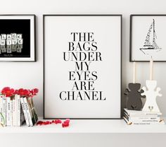COCO CHANEL QUOTEChanel Wall ArtFashion by TypoHouse on Etsy