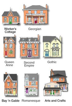 1000 images about cabbagetown toronto on pinterest for Architectural styles guide