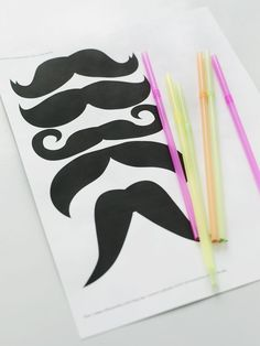 This is a really cute and fun party craft.  Google moustache templates and print out the ones you like.  Cut them out and make a hole with a hole puncher in the middle.  Add a straw and and everyone gets their own trim moustache.