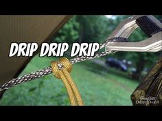Hammock rain setup and how to stay dry: Drip Lines and Water Breaks Just . Hammock rain setup and how to stay dry: Drip Lines and Water Breaks Just a quick hammock camping tip video about how I stay dry hammock camping in the rain. Camping In The Rain, Camping 101, Camping Survival, Family Camping, Tent Camping, Campsite, Outdoor Camping, Survival Tips, Camping Store