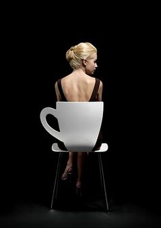 Coffee chair! -wonder how comfortable this is.