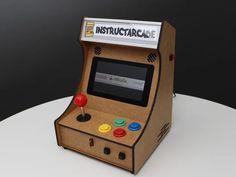 Mini Pi-Powered Arcade Machine by Plaputta - Thingiverse Pi Arcade, Retro Arcade Games, Mini Arcade Machine, Arcade Game Machines, Arcade Console, Art Education, Laser Cutting, Free Design, Vector Free