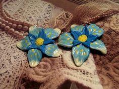 Мастер класс: Серьги Цветы из полимерной глины