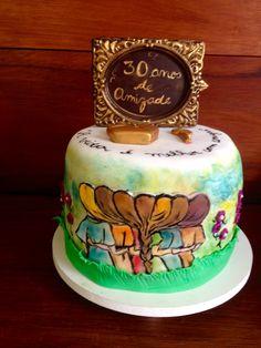 Cake Friends Girls Bolo da Amizade por Glacê Encantado Bolos Artísticos