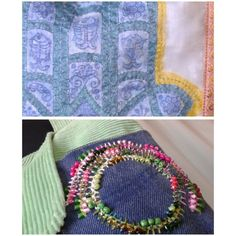 SOLD. Bag details.  Embroidery,  beading, hand drawing on textile, etc.  The Hamsa Bag.