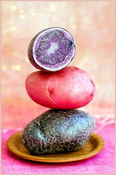 Purple Potatoes- delicious roasted with shallots, garlic, olive oil, rosemary & sea salt