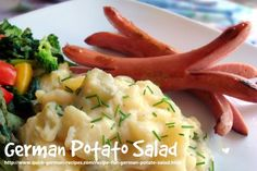 Traditionally eaten warm, this German Potato Salad also tastes great cold! Check it out at http://www.quick-german-recipes.com/recipe-for-german-potato-salad.html