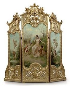 French Giltwood Dressing Screen