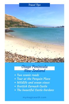 A day trip to Otago Peninsula includes driving along two scenic roads, joining an organized tour at the Penguin Place, watching Wildlife and enjoy ocean views at the headland of Otago Peninsula, visit the Scottish Larnach Castle, and enjoy the beautiful Castle Gardens. #oceania #destination #adventure #adventuretime #traveltips #travellife #daytrips #新西兰 #travelblogger #roadtrip #familytravel #unesco #thingstoknow #travelexperience #rentacar #carrental #larnachcastle #dunedin #otago #penguin Travel Photos, Travel Tips, Travel Goals, Time Travel, Travel Ideas, Australia Destinations, Australia Travel Guide, New Zealand Itinerary, New Zealand Travel Guide