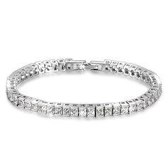 Qianse® *Frozen* 7' Brass Tennis Bracelet with AAA Cubic Zirconia [Must Have] Enliven You Dressing! >>> Click image for more details.
