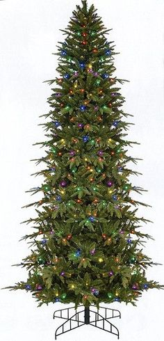 7.5 Foot Pre-Lit Palisade Artificial Christmas Tree Item #100025237 Mixed crush resistant lifelike foliage features tapered molded PE tips mixed with medium green tapered PVC tips on the inside to cre