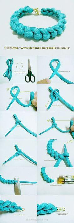 Turquoise lace Woven Bracelet