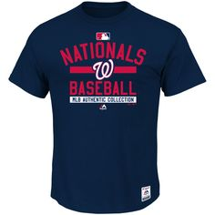 Washington Nationals Majestic Big & Tall Authentic Collection Team Property T-Shirt - Navy