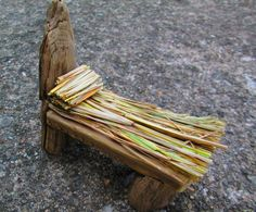 Straw Bed Miniature Fairy Garden Container Garden Furniture. $16.00, via Etsy.....wow!!! Cute, but not in my budget--- I better DIY to be frugal!!