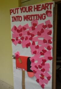 valentine's day classroom door use black history month postcardskdecorations - Google Search