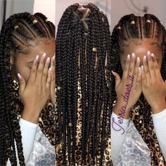 12 Easy Winter Protective Natural Hairstyles For Kids - Box Braids Hairstyles Black Girl Braided Hairstyles, Natural Hairstyles For Kids, African Braids Hairstyles, Easy Hairstyles, Teenage Hairstyles, Hairstyles Videos, Prom Hairstyles, African Braids Styles, Natural Braided Hairstyles