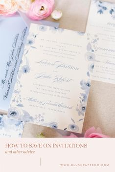 when to splurge and when to save on wedding invitations