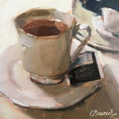 """It's An Earl Grey Day"" - Original Fine Art for Sale - © Candace Brancik"