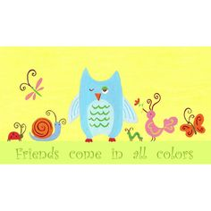 Colorful Friends Wall Art from PoshTots