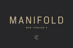 Manifold CF font by Connary Fagen Typography on Creative Market