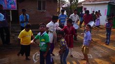 #Village #children #enjoying #festival near #CHUKKI #MANE