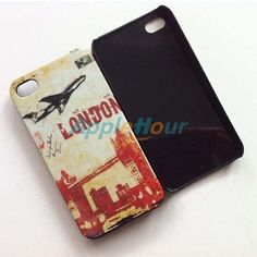 #Vintage Airplane Pattern Protective #Case #Cover for #Apple #iPhone 4/4s