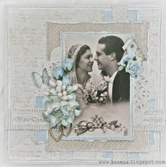 Shabby wedding card Maja Design and Papirdesign