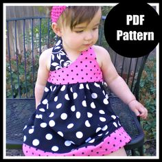 Girls Dress Pattern PDF sewing patternThe by pinkpoodlebows, $6.00