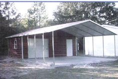 Storage shed with carport sheds carports and awnings for Boat garage kits