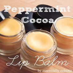 home made peppermint cocoa lip balm