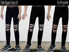 simtographies' Child Ripped Pants 01