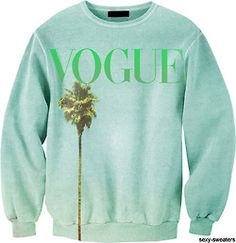 Vogue on a sweater.