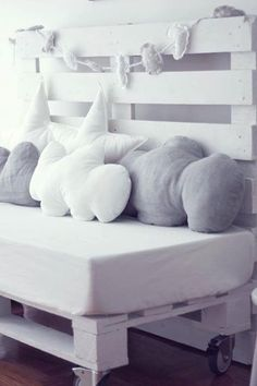 Nothing like pillows to create a special look for your kid's room. We have some cute ones also in boutiquedaf