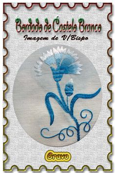 Castelo Branco - O ALBICASTRENSE: BORDADO DE CASTELO BRANCO Embroidery Patterns, Geometric Tattoos, Terra, Spain, Flowers, Embroidery Hoop Crafts, Crafts, Do It Yourself, Crew Neck
