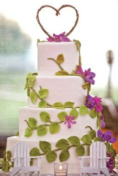 Vine Wrapped Cake--love the topper!