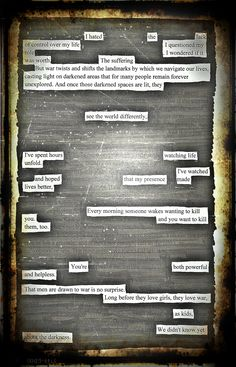 Powerful and Helpless - Blackout Poem by Kevin Harrell     www.blackoutpoetry.net
