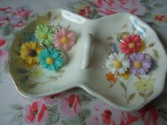 Floral statement Ring - The Supermums Craft Fair