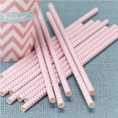 Pastel Pink Chevron Party Paper Straws by Ginger Ray, the perfect gift for Explore more unique gifts in our curated marketplace. Chevron Paper, Pink Paper, Pink Wedding Decorations, Birthday Party Decorations, Magenta, Sweet Table Wedding, Party Wedding, Tea Party, Dream Wedding
