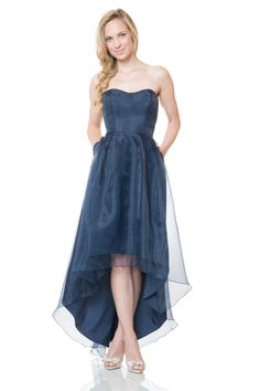 Bari Jay Bridesmaids Style 1509  Sample: Navy, size 12   $$