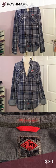 Men's L superory shirt Perfect condition no flaws men's large shirt Superory Tops Button Down Shirts