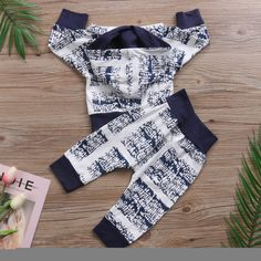 Abstract Granite Hoodie and Long Pants Set Long Shorts, Long Pants, Baby Boy Clothing Sets, Geometric Sleeve, Vest Pattern, Fashion Fabric, Style Fashion, Boys Hoodies, Baby Boy Fashion