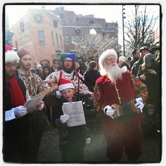 "@downtownftcollins's photo: ""#Santa arrives in #oldtownfortcollins for some caroling!"""