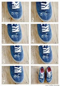 DIY Shoes Tutorial. See this tutorial here