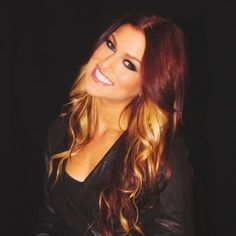 Red Hair with Blonde Panels. This is exactly what I wanna do with my hair next!!