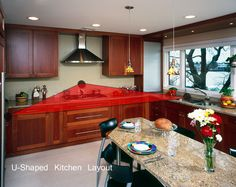 Kitchen work triangle, U-shaped kitchen layout - Kitchen Work Triangle: Plan your space