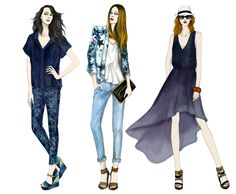 "Fashion Illustrator Mengjie Di: Commission for ""Mossimo Black"""