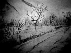 un #dibujo en la pared, el arbol de la luz xd