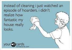 Instead of cleaning...