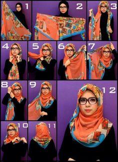 How To Hijab - Zorascarf - Islam Hijab Chic, Ootd Hijab, Stylish Hijab, Hijab Casual, Hijab Dress, Girl Hijab, Hijab Outfit, Turban Hijab, Islamic Fashion