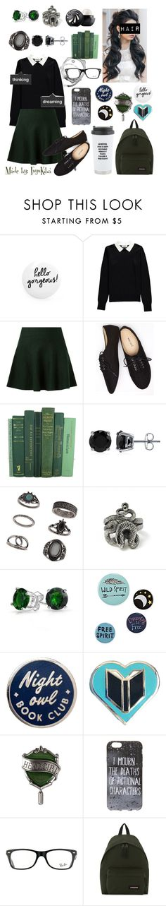 """""""#9 Coffee shop"""" by fuyukiba ❤ liked on Polyvore featuring Jonas & Muse, Essentiel, Wet Seal, Eos, BERRICLE, Topshop, Bling Jewelry, Ray-Ban and Eastpak"""